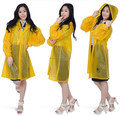 plastic waterproof pvc long raincoat suit customed