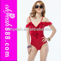 Wholesale Hot Sexy Red Ladies Beauti Sex One Piece Swimsuit
