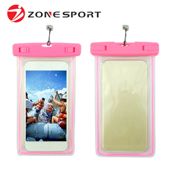 High quality Waterproof mobile phone bags&cases for smart phone can shining in the dark