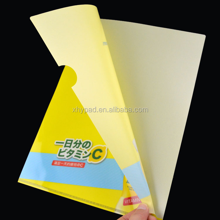 l shape a4 plastic file folder