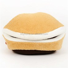 Cute Pet Bed In Hamburger Sharp for Small Medium Dog Warm Winter