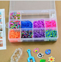 2014 Hottest silicone rainbow colorful loom bands,rainbow fashion loom rubber bands,DIY rainbow style loom band with charms