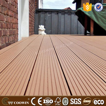 Weather proof red pine color teak wood composite WPC decking