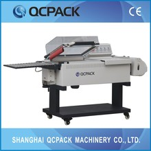 manual shrink tunnel with chain supply small semi-auto over wrapping machine