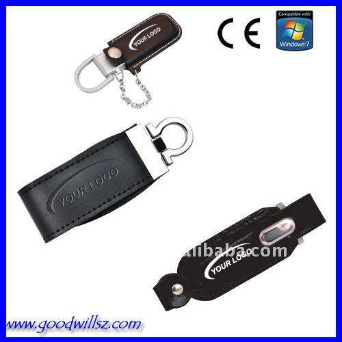 Leather USB Flash Drive free custom logo service