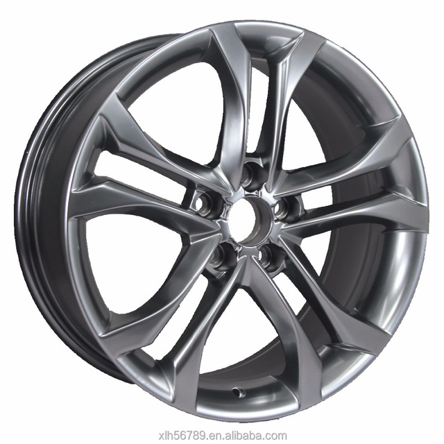 18 inch 5 hole 10 spoke silvery replica alloy wheel rim made in china