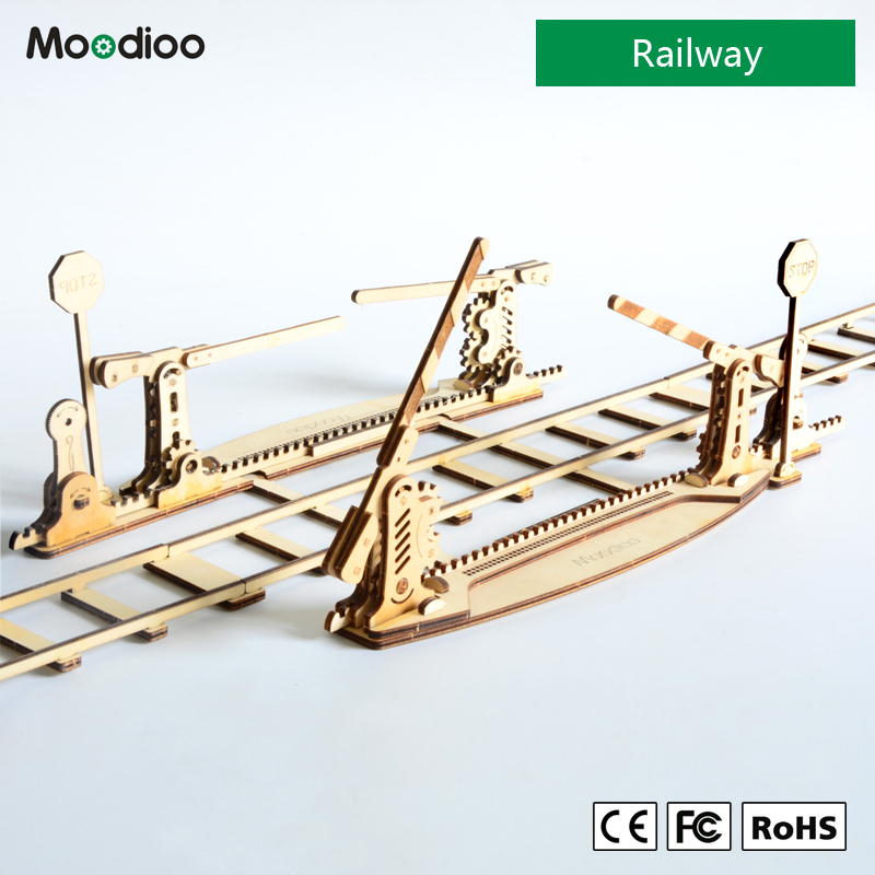 Moodioo Railway 3d puzzle wooden toy