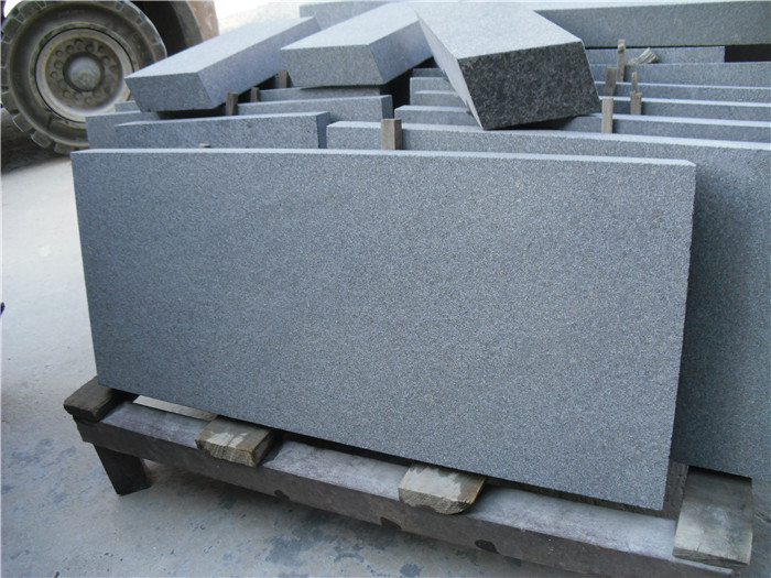 honed  Basalt  G684 thick slab for floor engineering