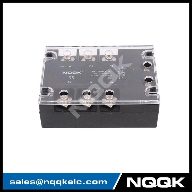 DC or AC control 10A 120A LED zero coross SSR three phase solid state relay