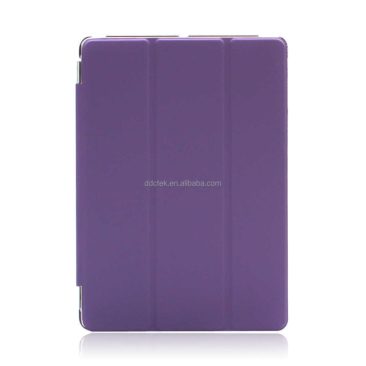 Purple PC PU leather case cover for ipad mini with stand vision