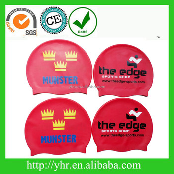 2017 most popular custom printing silicone swimming cap