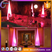 Inflatable cone with led light in outdoor romantic party decoration