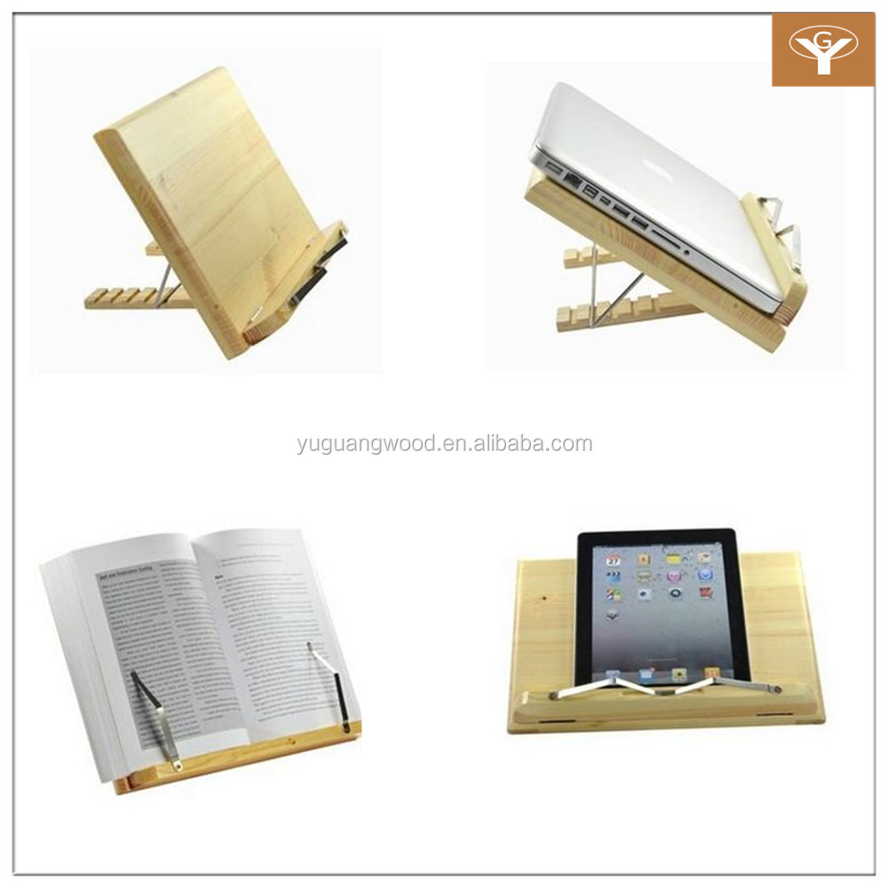 Wood Book Stand Laptop IPad Book Stand Holder