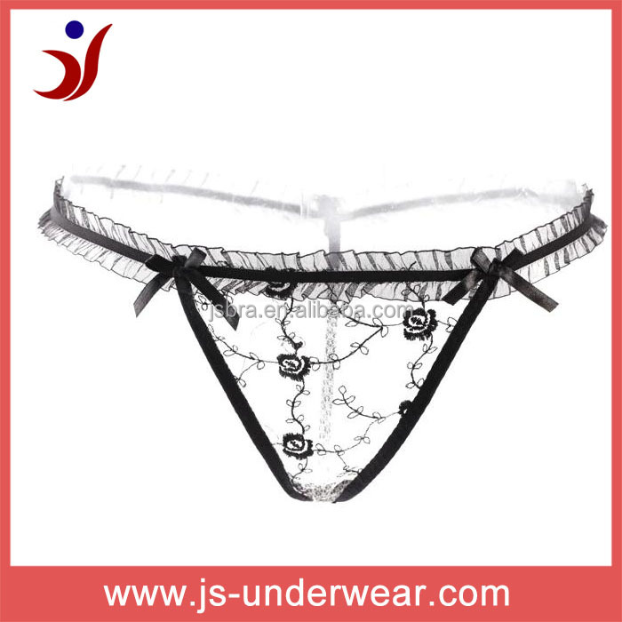 Wholesale sexy ladies Glass yarn transparent underwear,sexy transparent ladies underwear panties,Sexy G String