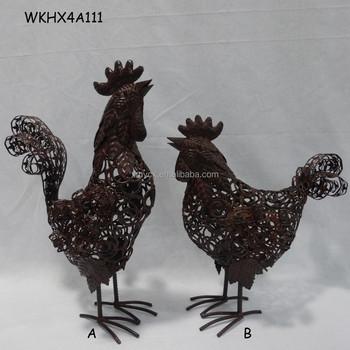 handmade craft chicken metal home decor buy metal home
