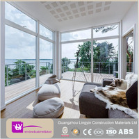 Hot Sale white color panoramic aluminum windows with double glass made in Foshan factory