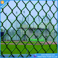 2016 popular school galvanized PVC coated green chain link fence