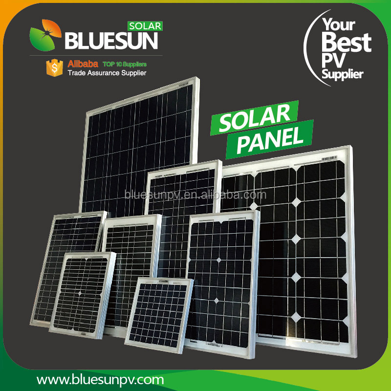 Bluesun poly 5w 10w 20w 30w 40w 50w 60w 70w 80w 90w 100w small solar panels for toys
