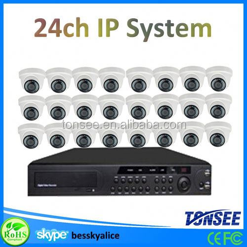 24ch dvr camera p2p wireless ip camera rohs security camera kit