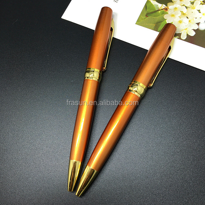 Pearl orange lady best choice elegant luxury OEM metal pen