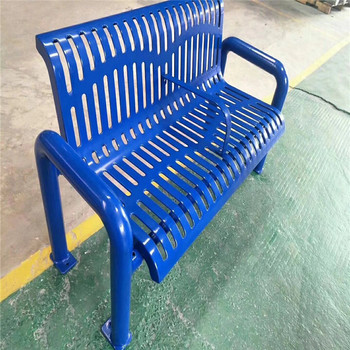 Fireproof Modern Relaxing  steel Outdoor Park Garden Metal Bench chair with high quality electrostatic spraying surface