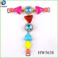HW5638 wholesale fancy sandal ornaments chain colorful shoes accessories for child