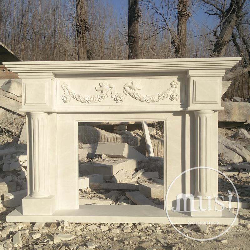 home decor modern european hand carved marble fireplace mantle