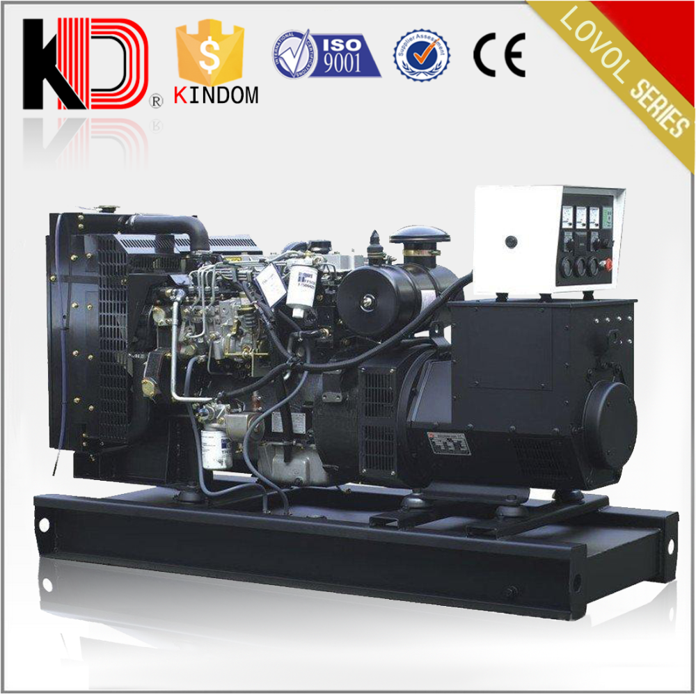 Energy Saving Turbo Charger 120kw 150kva Open Type Diesel Dynamo Powered by LOVOL Engine