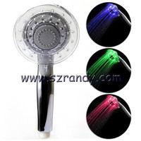 Special Structural and Round Shaped LED Temperature hydro power led shower heads