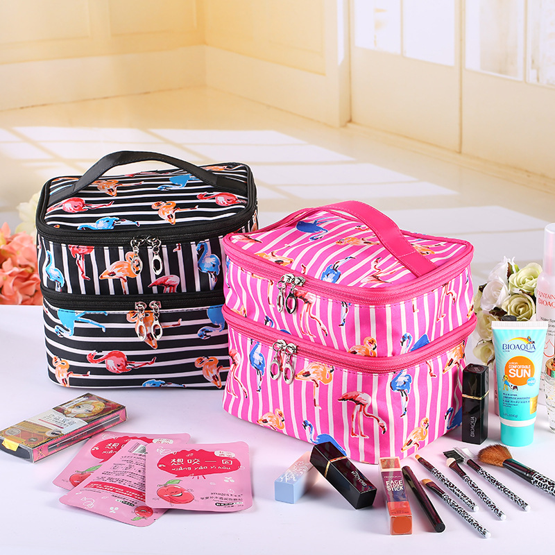 Ms han edition toiletry bags high quality diamond lattice with mirror waterproof diamond spot wholesale cosmetic bag