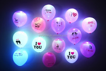 Factory Price 12 Inches Round Shape Biodegradable Led latex Balloon