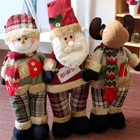Hot selling Lovely Christmas Doll Decoration Santa Claus Snowman Ornament Gift