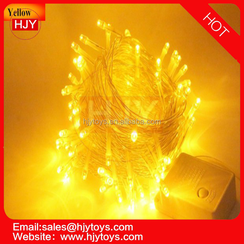 yellow LED light strings Hot Selling 10M 100 LED String Outdoor Decoration Holiday Tree LED Christmas String Light