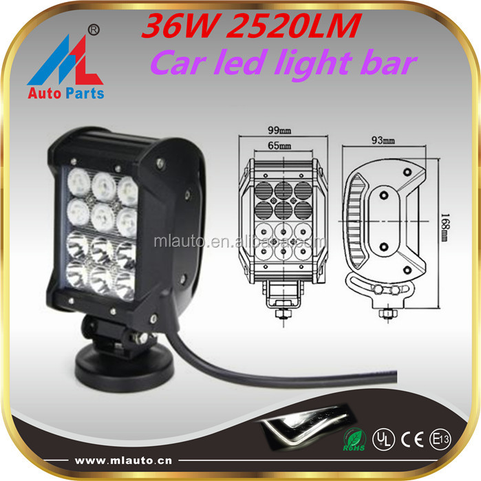 "Auto spare parts led off road parts 36w 4"" led auto light bar with competitive price"