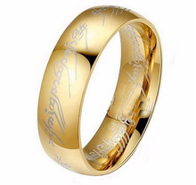 Hot Sale Titanium Stainless Steel Couple Rings Lord Of The Rings Tungsten Steel Ring