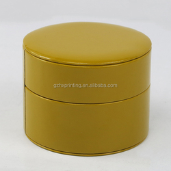 2018 Hot Sale Yellow Circle Shape Plastic Watch Boxes For Woman