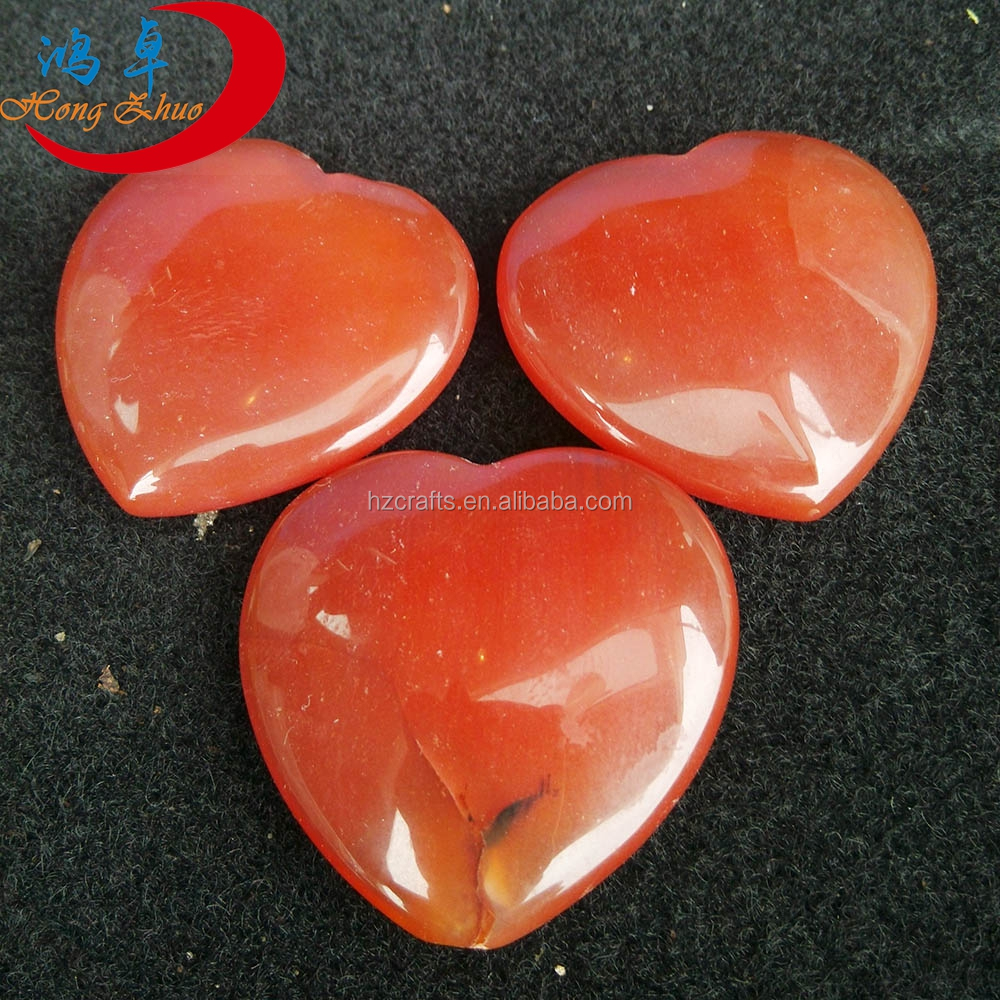 Carnelian Heart Stone For Gift For Sales For Collection