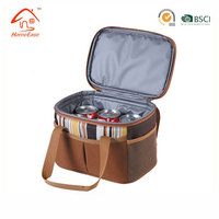 Promotional 6 pack insulated beer can bottle food delivery cooler bag