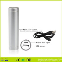 Fashion Small Cylindrical Power Bank Emergancy Mobile power Real Capacity 2600Mah With Retail Box