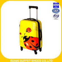 2016 fashion design ABS +PC kids luggage set with aluminum trolley