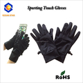 Spandex touch screen gloves for smart phone and touch device