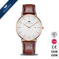 Quality super thin Stanless Steel Simple Quartz Watch for Men with 2 Hands Japan Movt