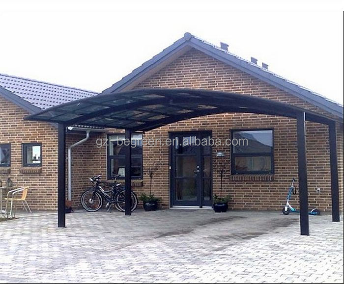2-jointed Guangzhou polycarbonate carport, simple metal car port