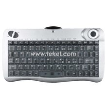 Infrared (IR) Wireless Keyboard With Trackball mouse. PS/2,USB or UART interface.For HTPC,TV,CD,Multimedia,Medical devices