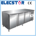 3 door auto defrosting stainless steel refrigerated counter for kitchen