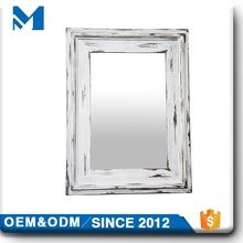 Beveled Room Hanging Wooden Mirror Frame