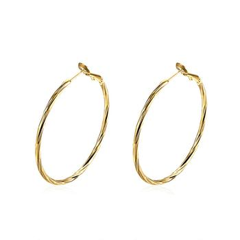 Europe wholesale 18K gold plated Round Hoop Earrings for Women