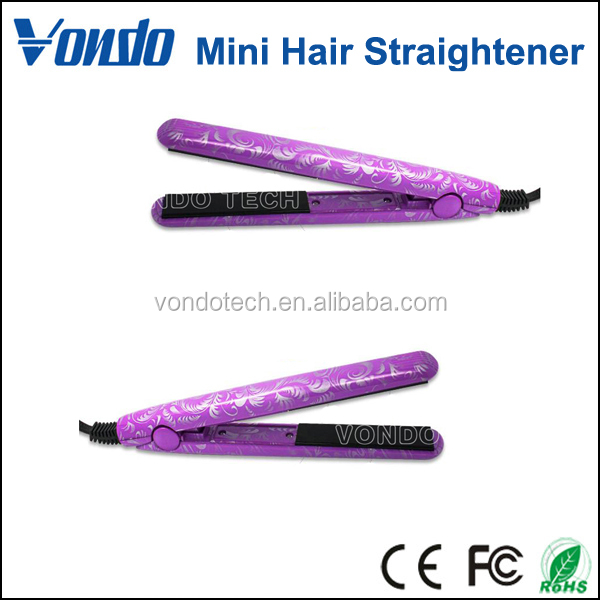 Travel Hair Straightener Mini Size Easy Portable Ceramic Material Flat Irons Styling Tools Four Styles
