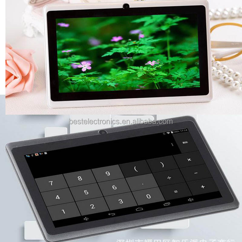"FACTORY DIRECT SELLING 7"" inch Tablet Quad Core Q88H A33 Android Camera WiFi Tablet Pad 512M Ram 8G capacity"