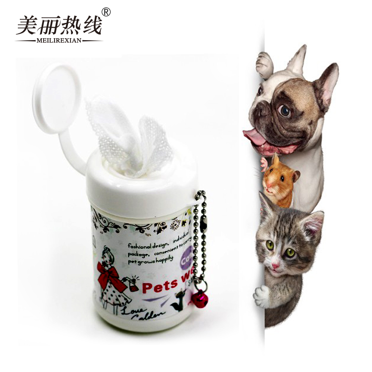 China Supplier Cleaning of dog and cat face Pets Wet Wipes